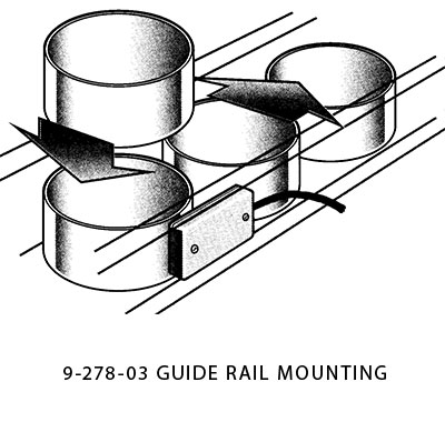 die protection sensor  - guide rail mounting