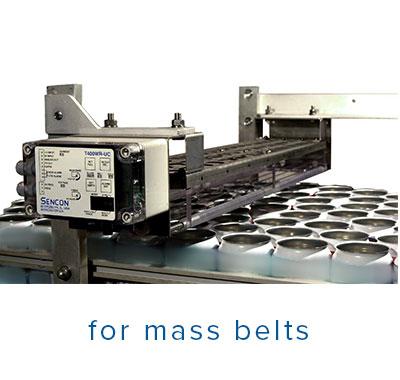 area mass sensor system installed on a canline mass conveyor