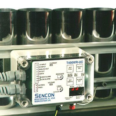 linear mass sensor installed on a can line  conveyor