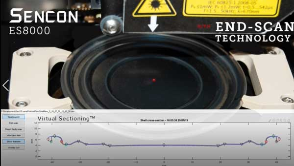 Sencon's Shell & Progression gauge Sencon eliminates the need for physical profiling