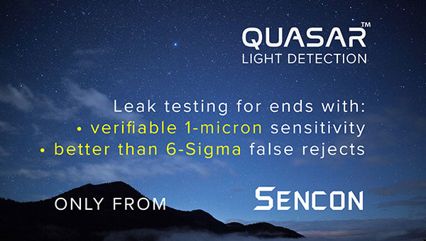 Quasar Light Detection coming soon from Sencon